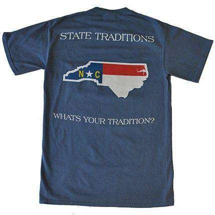 Men's Tee Shirts - NC Traditional T-Shirt In Blue By State Traditions