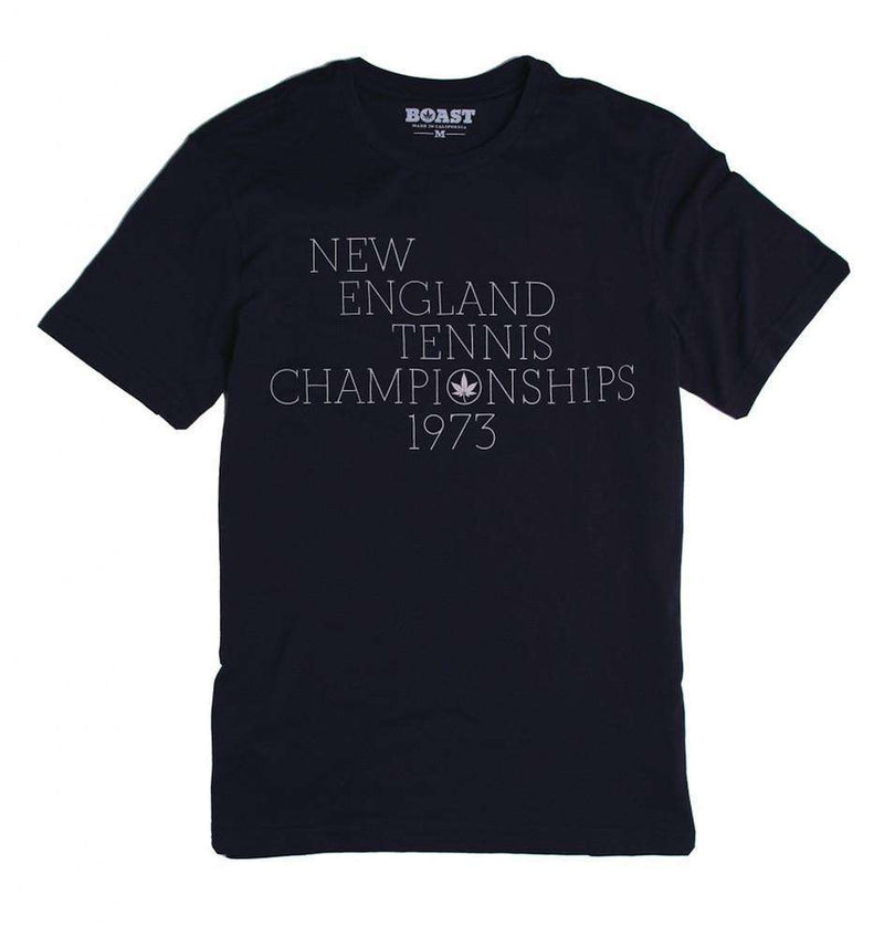Men's Tee Shirts - New England Tennis Championship Tee In Navy By Boast - FINAL SALE