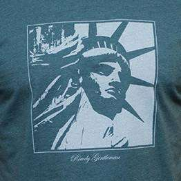 New York State Pride Vintage Tee in Faded Green by Rowdy Gentleman - FINAL SALE