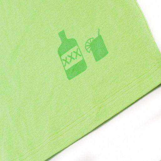 No Chaser Pocket Tee Shirt in Neon Green by Krass & Co. - FINAL SALE