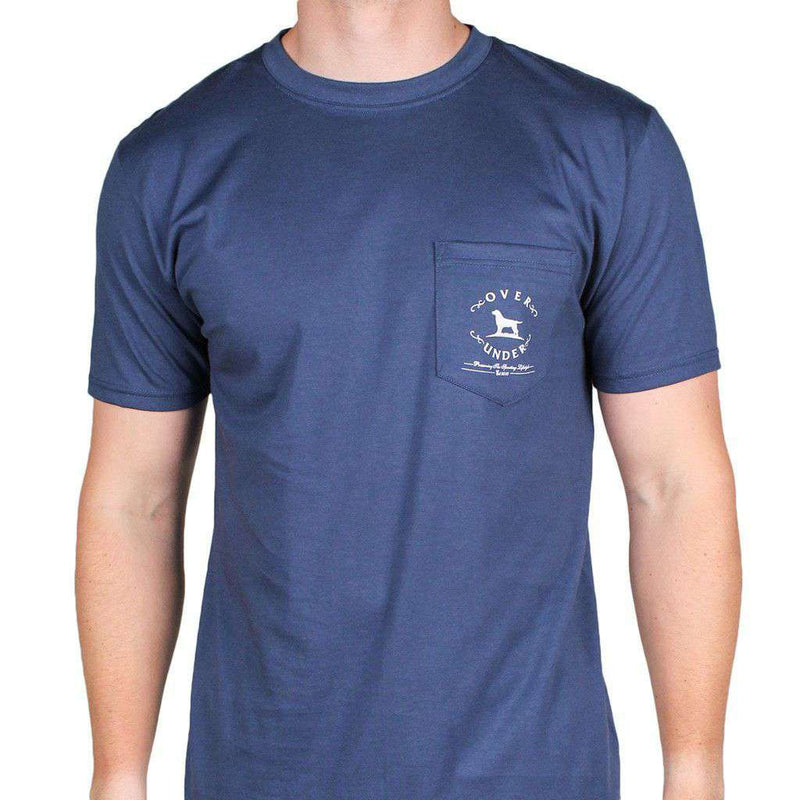 11483187b Men's Tee Shirts - Not Made In China Tee In Navy By Over Under Clothing