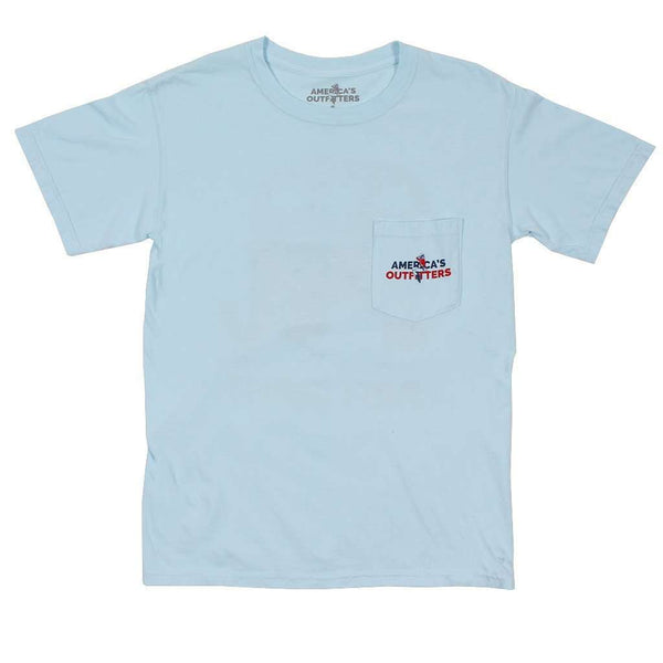 Men's Tee Shirts - Not Politically Correct Tee In Chambray By America's Outfitters - FINAL SALE
