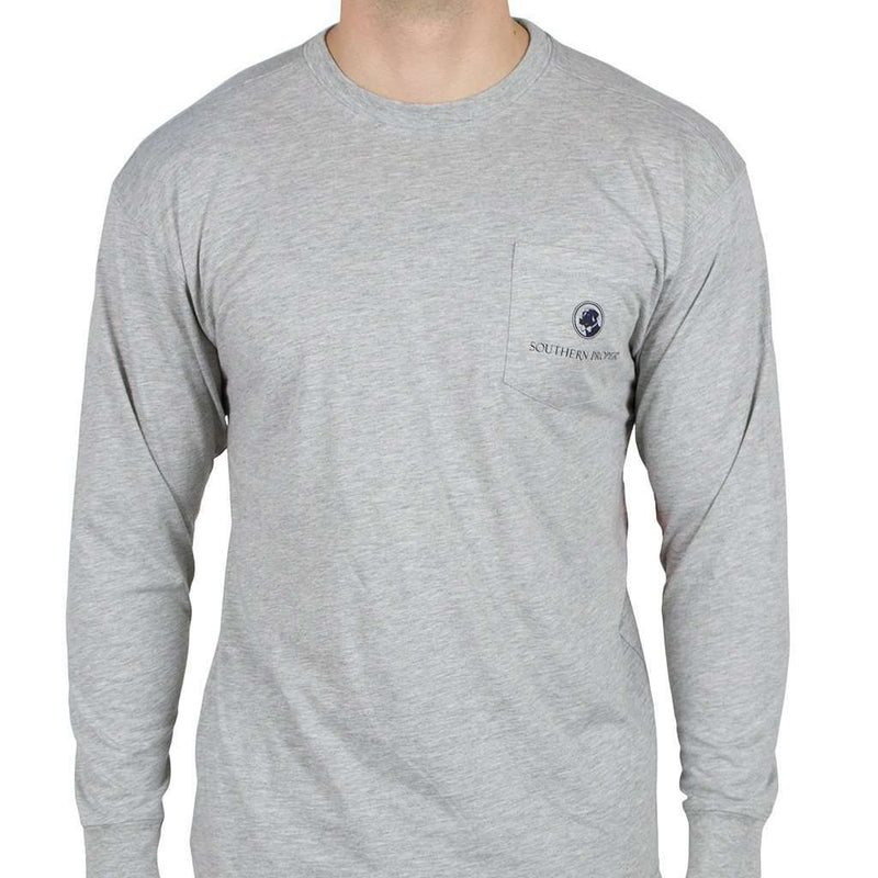Nothing Says Southern (Like Southern Proper) Long Sleeve Tee in Grey by Southern Proper