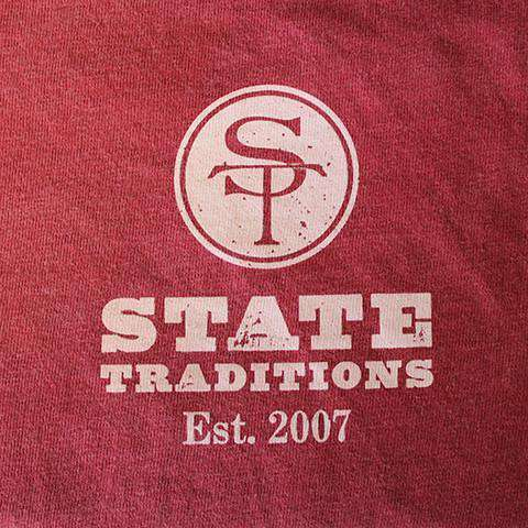 OK Norman Long Sleeve T-Shirt in Crimson by State Traditions