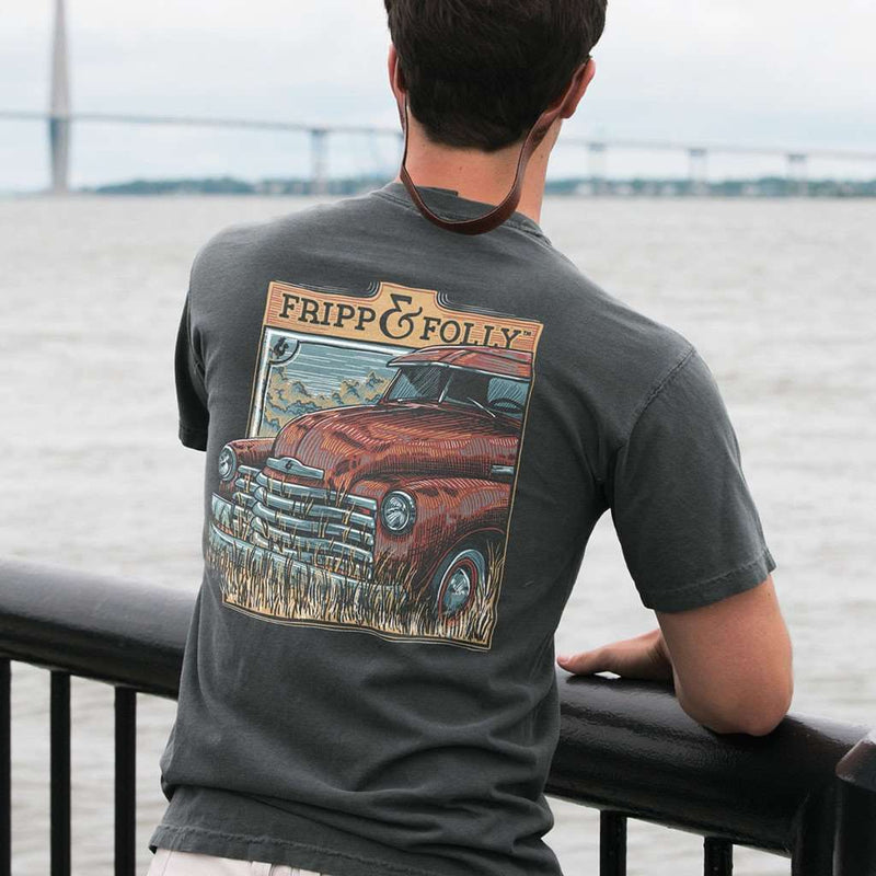 Old Truck Closeup Tee in Pepper by Fripp & Folly - FINAL SALE