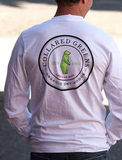Men's Tee Shirts - Organic Long Sleeve T-Shirt By Collared Greens
