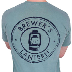 Men's Tee Shirts - Original Logo Tee In Seafoam By Brewer's Lantern