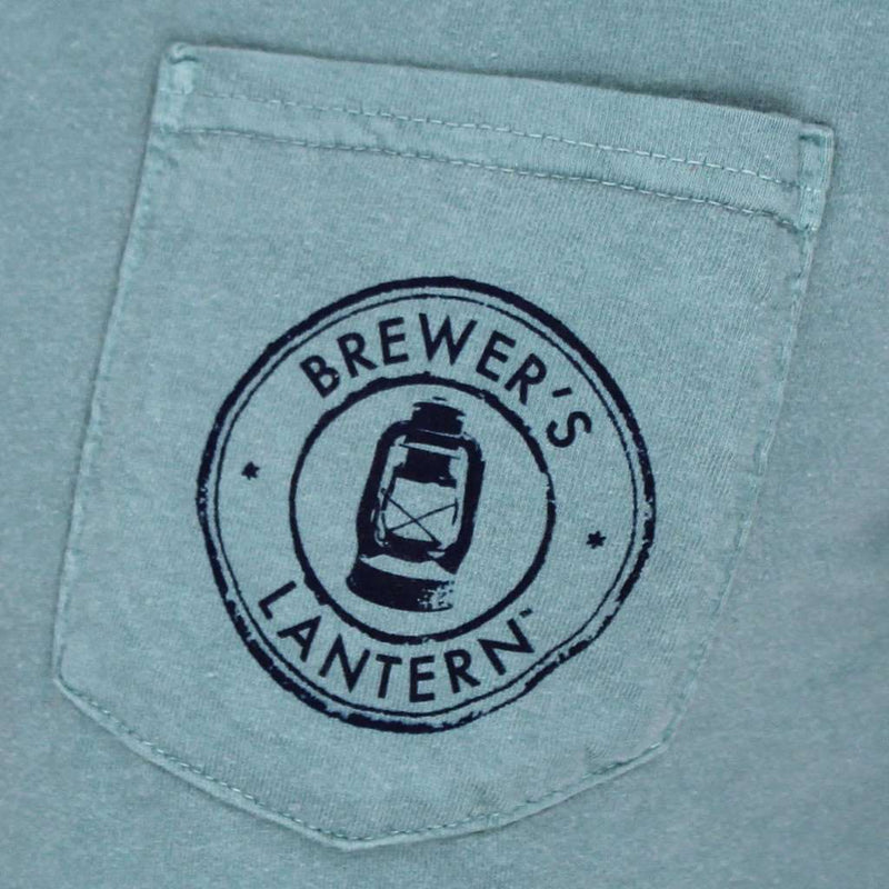 Original Logo Tee in Seafoam by Brewer's Lantern