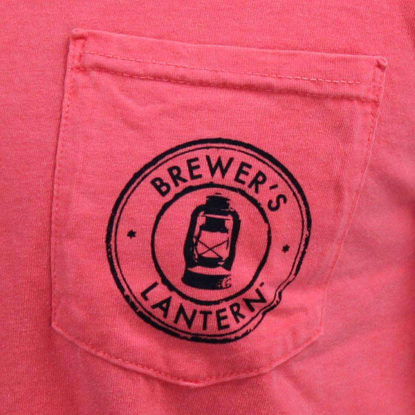 Original Logo Tee in Watermelon by Brewer's Lantern