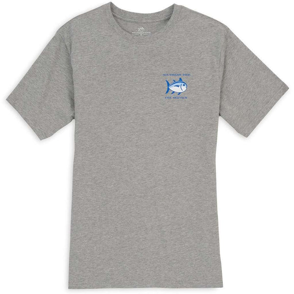 Men's Tee Shirts - Original Skipjack Tee In Heathered Grey By Southern Tide