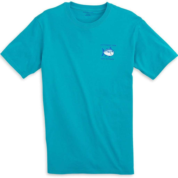Men's Tee Shirts - Original Skipjack Tee Shirt In Cool Breeze By Southern Tide