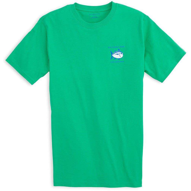 Men's Tee Shirts - Original Skipjack Tee Shirt In Grass Green By Southern Tide
