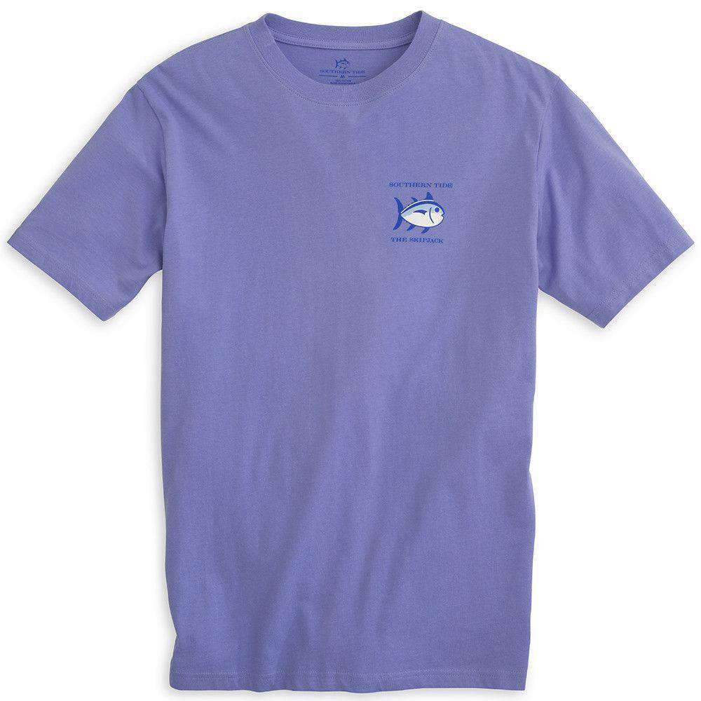 Men's Tee Shirts - Original Skipjack Tee Shirt In Lavender By Southern Tide
