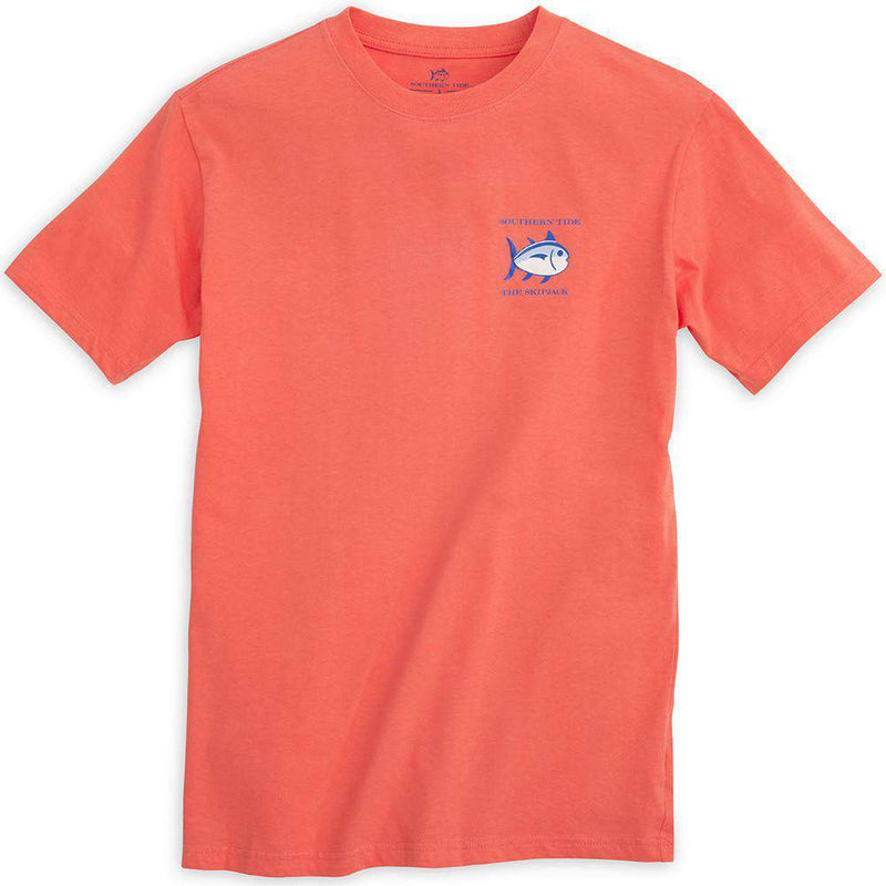 Original Skipjack Tee Shirt in Nautical Orange by Southern Tide