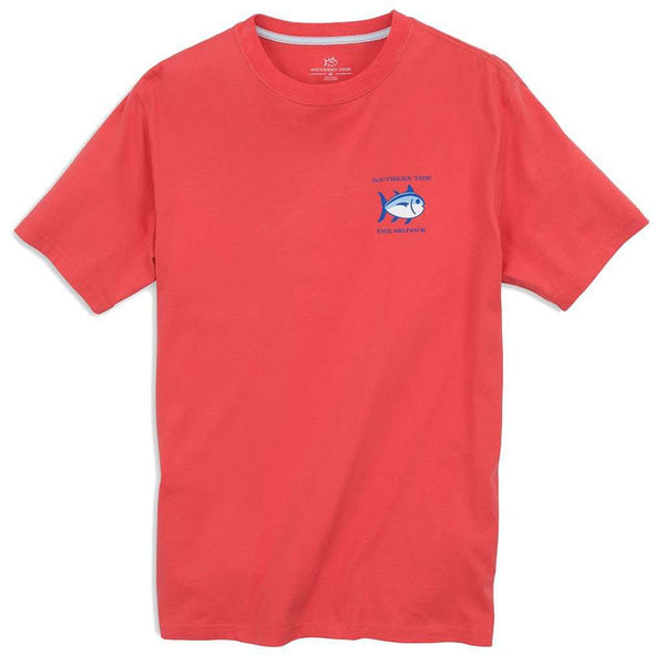 Men's Tee Shirts - Original Skipjack Tee Shirt In Paprika Red By Southern Tide