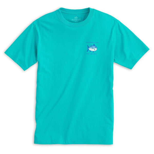 Men's Tee Shirts - Original Skipjack Tee Shirt In Patina By Southern Tide