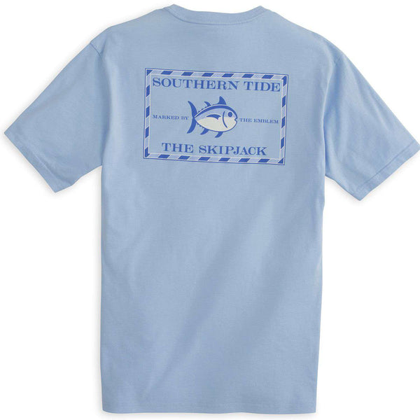 Men's Tee Shirts - Original Skipjack Tee Shirt In True Blue By Southern Tide