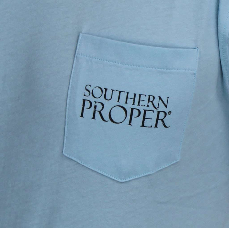 Men's Tee Shirts - Original Tee In Aqua By Southern Proper