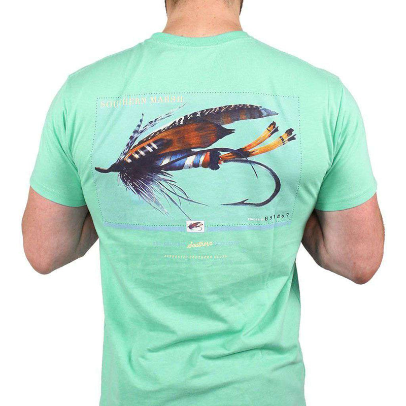 Men's Tee Shirts - Outfitter Series Collection Lure One Tee In Bimini Green By Southern Marsh