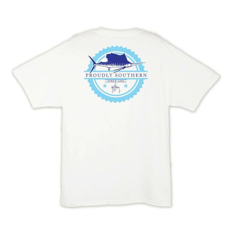 Men's Tee Shirts - Outlaw T-Shirt In White By Guy Harvey