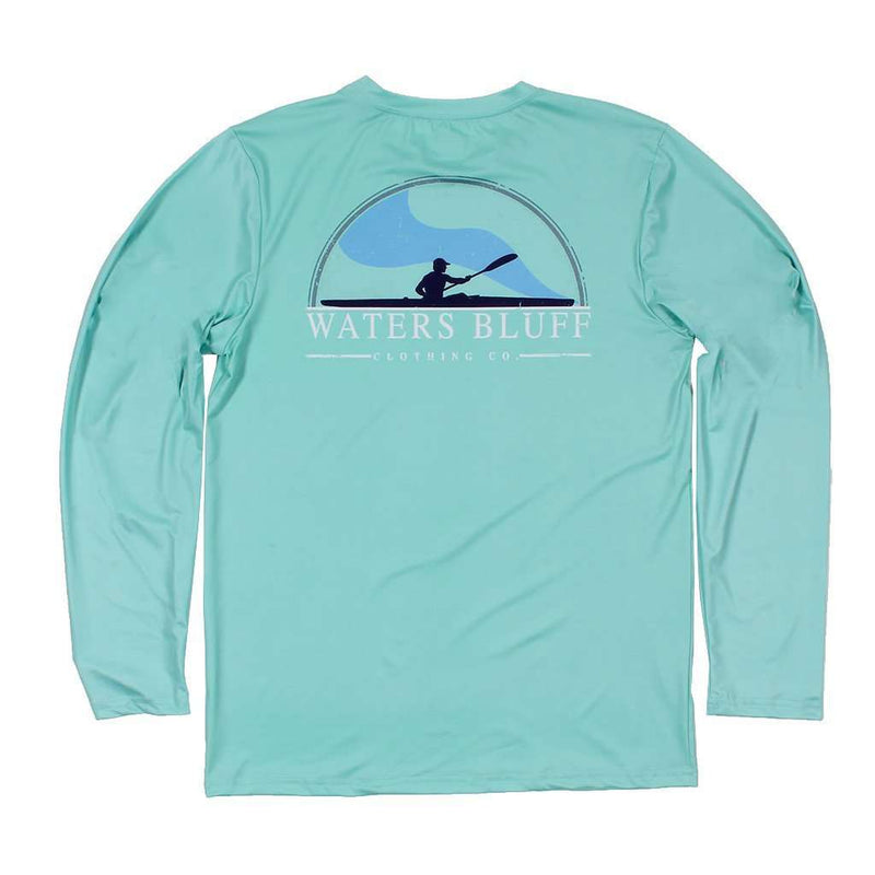 Men's Tee Shirts - Paddler Long Sleeve Performance Tee Shirt In Mint By Waters Bluff