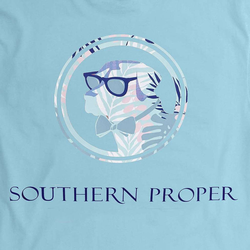 Palm Lab Logo Tee in Pool by Southern Proper