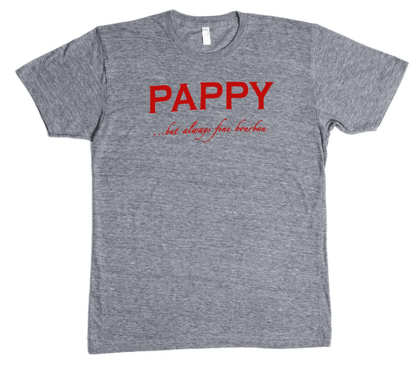 Men's Tee Shirts - Pappy Tee In Heather Grey By Pappy Van Winkle - FINAL SALE
