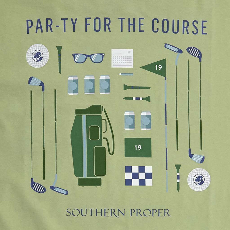 Par-ty For The Course Tee in Moss by Southern Proper - FINAL SALE