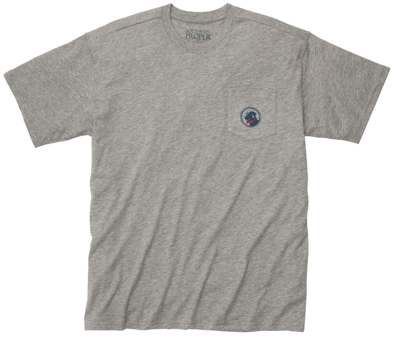 Men's Tee Shirts - Party Animal Tee In Grey By Southern Proper