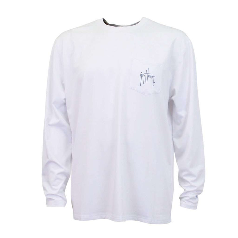 Patriot Pro UVX Long Sleeve Performance Shirt in White by Guy Harvey - FINAL SALE