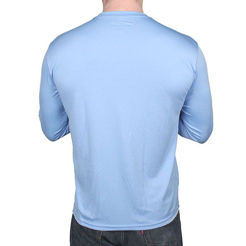 Men's Tee Shirts - Performance Core Long Sleeve T-Shirt In Carolina Blue By Costa Del Mar
