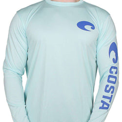 Men's Tee Shirts - Performance Core Long Sleeve T-Shirt In Mint By Costa Del Mar