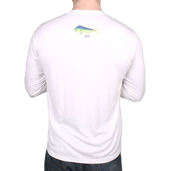 Men's Tee Shirts - Performance Dorado Long Sleeve T-Shirt In White By Costa Del Mar