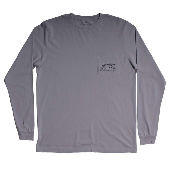 Pheasant Long Sleeve Tee in Grey by Southern Point - FINAL SALE