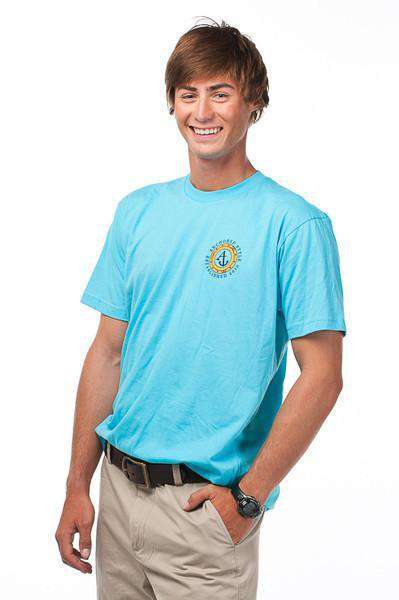 Porthole Tee Shirt in Aqua by Anchored Style