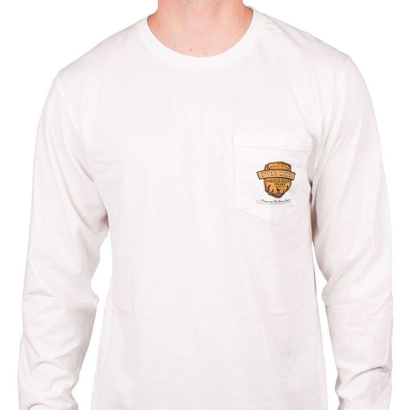 Prohibition Long Sleeve Tee in White by Over Under Clothing