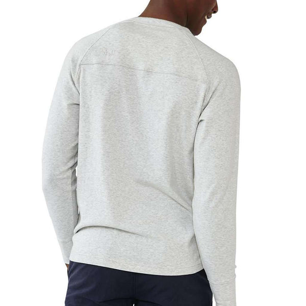 Puremeso Henley Long Sleeve Tee in Stone by The Normal Brand - FINAL SALE