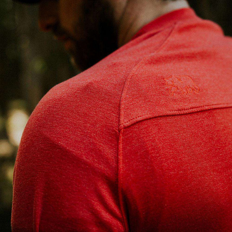 Puremeso Pocket Crew Long Sleeve Tee in Red by The Normal Brand