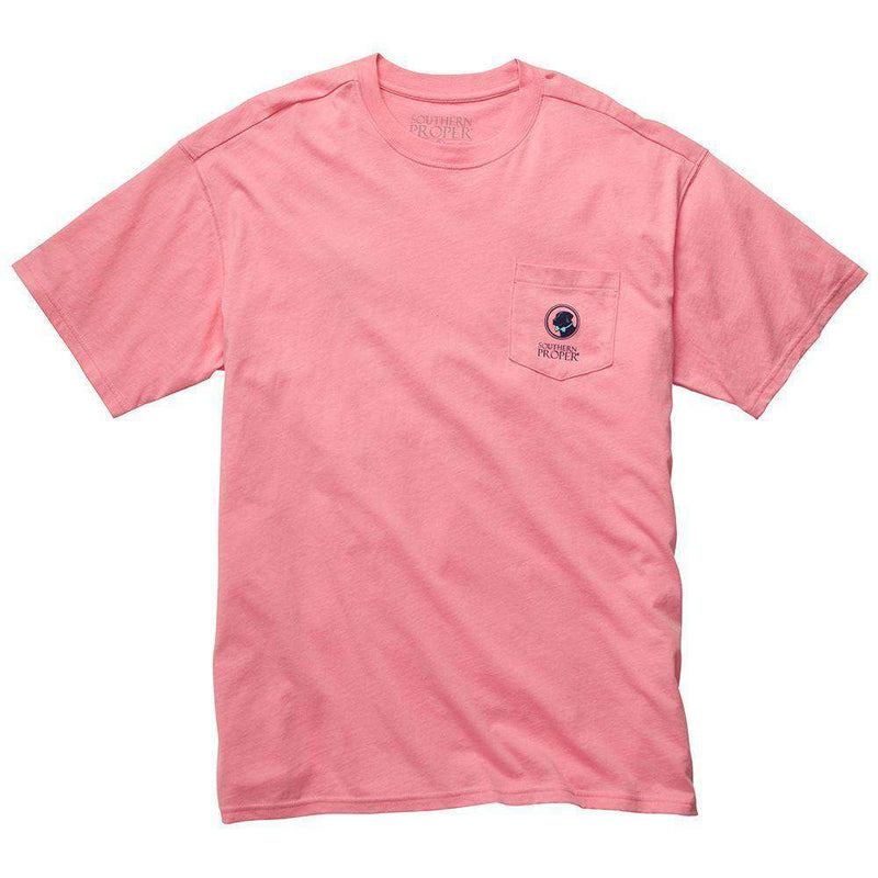 Men's Tee Shirts - Raised Right Tee In Salmon By Southern Proper - FINAL SALE