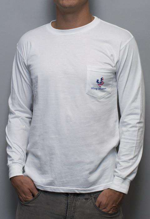 Men's Tee Shirts - Reagan Bush '84 Long Sleeve Tee In White By Rowdy Gentleman