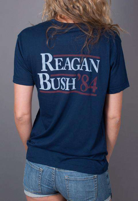 Reagan Bush '84 Pocket Tee in Navy by Rowdy Gentleman - FINAL SALE
