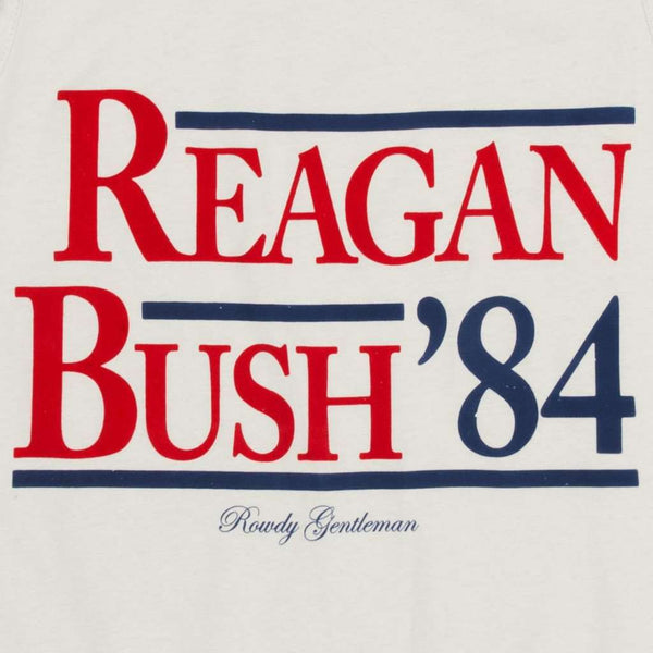 Reagan Bush '84 Tank Top in Sand by Rowdy Gentleman