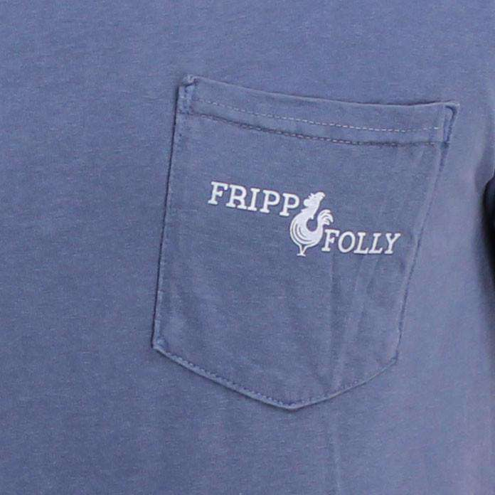 Men's Tee Shirts - Reagan Elephant Tee In Blue Jean By Fripp & Folly