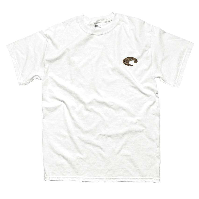 Realtree Max-5 Camo Logo Tee in White by Costa Del Mar