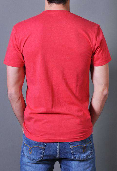 Men's Tee Shirts - Red Barons Vintage Tee In Red By Rowdy Gentleman - FINAL SALE