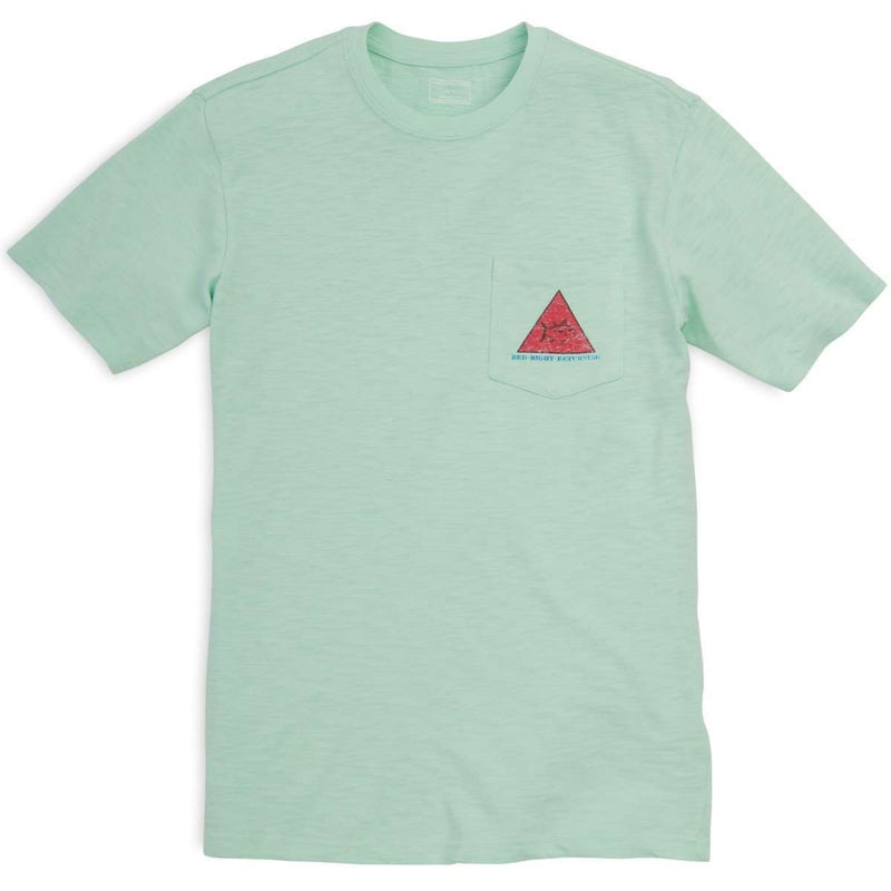 Red Right Return Pocket Tee in Sea Foam Green by Southern Tide