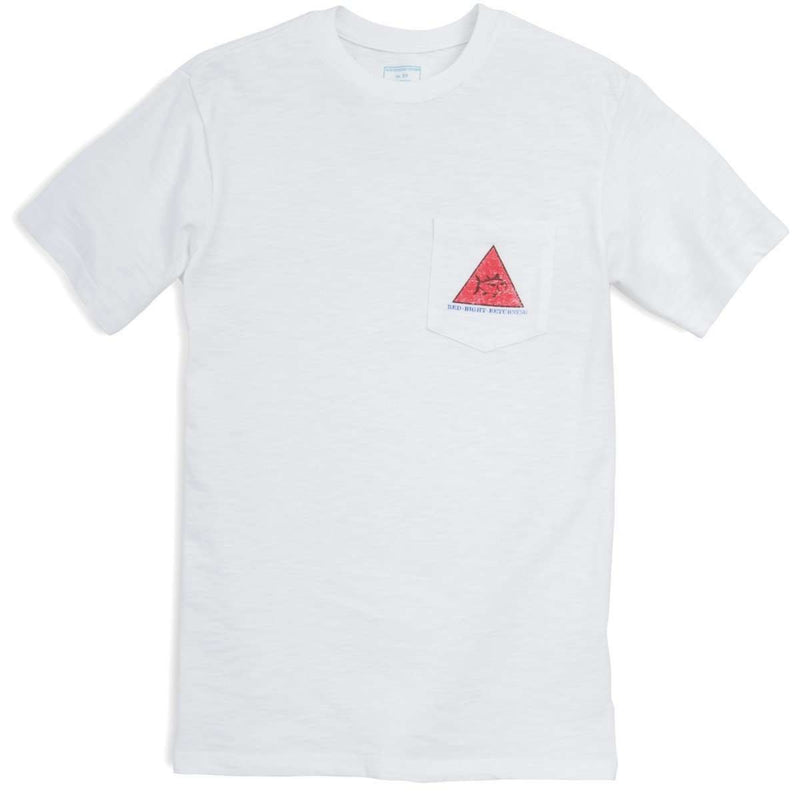 Red Right Return Pocket Tee in White by Southern Tide