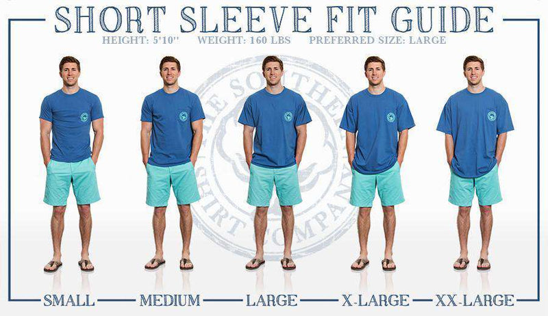Men's Tee Shirts - Retriever Tee In Ocean Blue By The Southern Shirt Co.