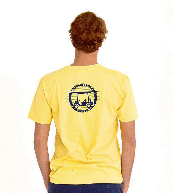 Men's Tee Shirts - Retro Tee In Sunshine Yellow By Bald Head Blues