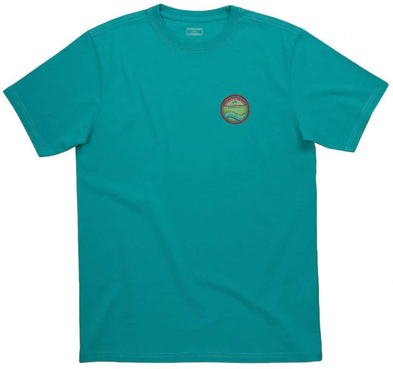 Men's Tee Shirts - Riptide Tee Shirt In Haint Blue By Southern Tide